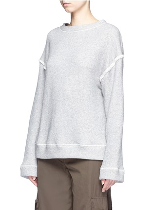 Front View - Click To Enlarge - Helmut Lang - Heavy loop back terry oversized sweater