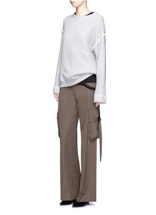 Figure View - Click To Enlarge - Helmut Lang - Heavy loop back terry oversized sweater