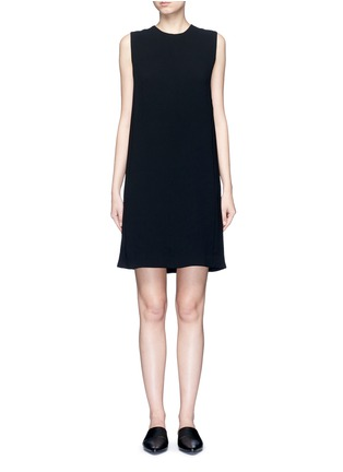 Main View - Click To Enlarge - Vince - Pleat back sleeveless shift dress