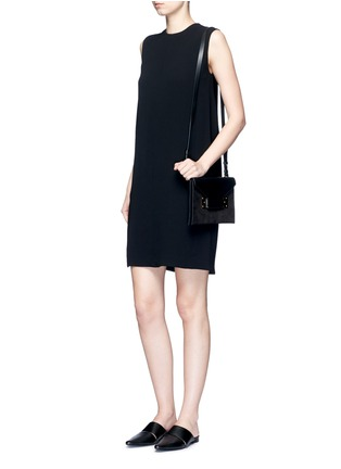 Figure View - Click To Enlarge - Vince - Pleat back sleeveless shift dress