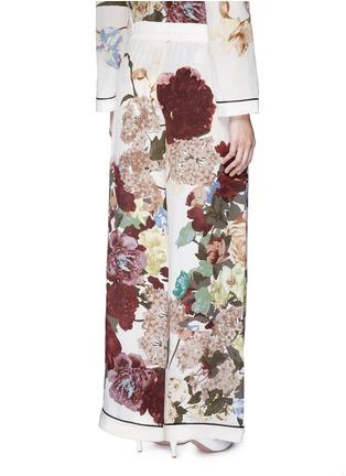 Back View - Click To Enlarge - Valentino - Floral print silk pyjama pants