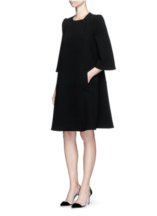 Figure View - Click To Enlarge - Co - Gathered crepe jacket