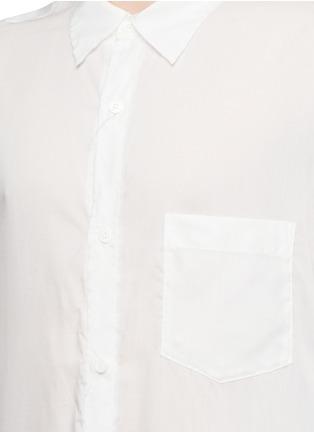 Detail View - Click To Enlarge - Sulvam - Back slit long tencel shirt
