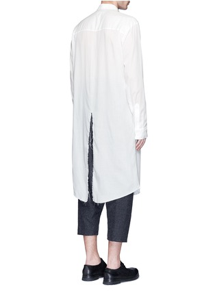 Back View - Click To Enlarge - Sulvam - Back slit long tencel shirt