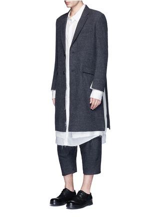 Figure View - Click To Enlarge - Sulvam - Back slit long tencel shirt