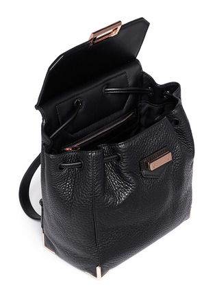 Detail View - Click To Enlarge - Alexander Wang  - 'Prisma' skeletal hardware constrast leather backpack