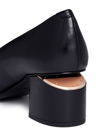 Detail View - Click To Enlarge - Alexander Wang  - 'Simona' cutout heel leather pumps