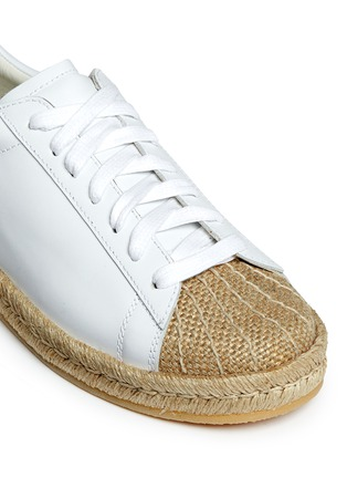 Detail View - Click To Enlarge - Alexander Wang  - 'Rian' leather espadrille sneakers