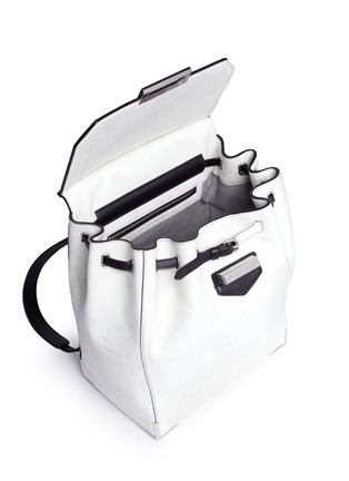 Detail View - Click To Enlarge - Alexander Wang  - 'Prisma' contrast effect leather backpack