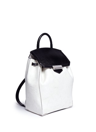Front View - Click To Enlarge - Alexander Wang  - 'Prisma' contrast effect leather backpack