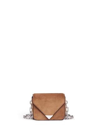 Main View - Click To Enlarge - Alexander Wang  - 'Prisma' mini suede envelope sling bag