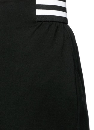 Detail View - Click To Enlarge - Mo&Co. - Stripe waist jersey pencil skirt