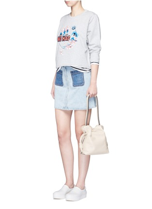 Figure View - Click To Enlarge - Mo&Co. - 'Ni Hao' embroidery sweatshirt