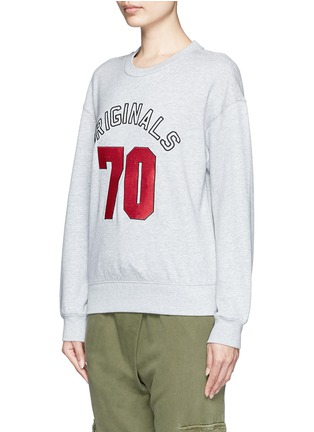 Front View - Click To Enlarge - Mo&Co. - 'ORIGINALS 70' sequin embellished sweatshirt
