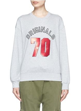 Main View - Click To Enlarge - Mo&Co. - 'ORIGINALS 70' sequin embellished sweatshirt