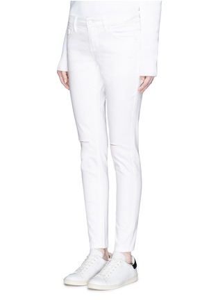 Front View - Click To Enlarge - Mo&Co. - Ripped knee skinny jeans