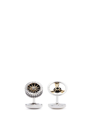 Main View - Click To Enlarge - Paul Smith - Steering wheel and tire cufflinks