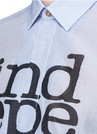 Detail View - Click To Enlarge - Paul Smith - 'Independent Mind' print cotton-silk shirt