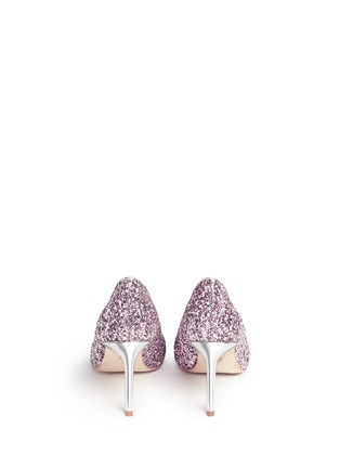 Back View - Click To Enlarge - Pedder Red - 'Jess' coarse glitter pumps