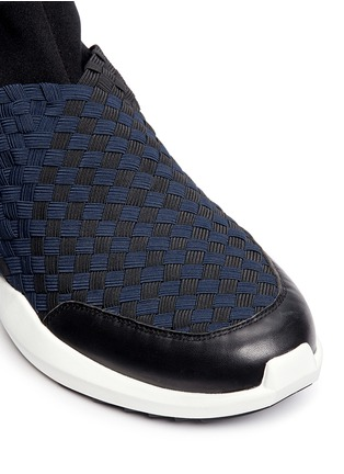 Detail View - Click To Enlarge - ASH - 'Quincy' woven ribbon neoprene slip-on sneakers