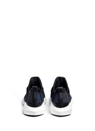 Back View - Click To Enlarge - ASH - 'Quincy' woven ribbon neoprene slip-on sneakers