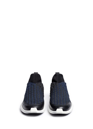 Front View - Click To Enlarge - ASH - 'Quincy' woven ribbon neoprene slip-on sneakers