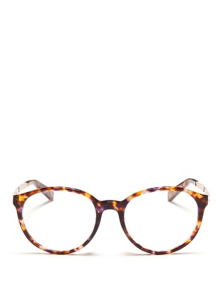 Main View - Click To Enlarge - MICHAEL KORS - 'Mayfair' metal temple tortoiseshell acetate optical glasses