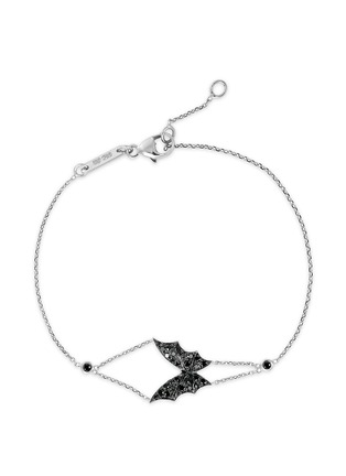 Main View - Click To Enlarge - Stephen Webster - 'Fly By Night' black diamond 18k white gold batmoth bracelet