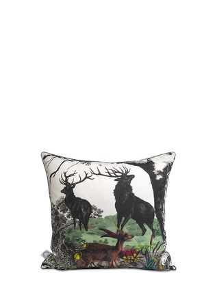 Main View - Click To Enlarge - Kristjana S Williams - Twin Stags cotton cushion